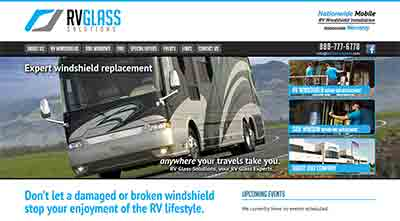 Image of RV Glass Solutions home page